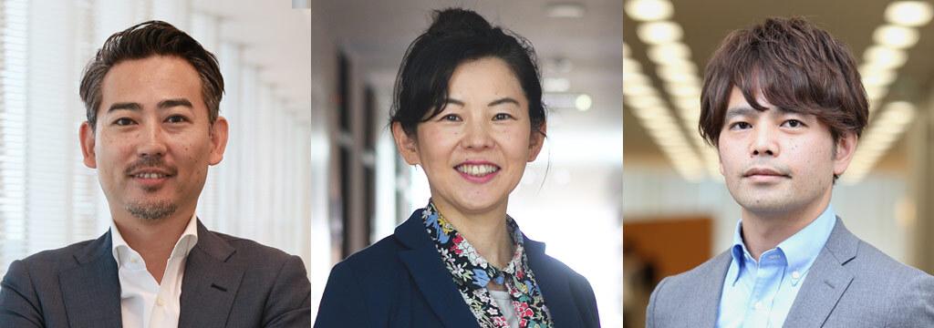 Left: Yutaka Kataoka (Executive Officer / General Manager, Media Division, Yahoo Japan Corporation) Center: Atsuko Hattori (Professor, Faculty of Policy Studies, Doshisha University; President, DSIA) Right: Shuichi Nishida (Executive Officer / General Manager, SR Promotion Division, Yahoo Japan Corporation)